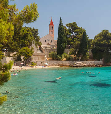 A quiet cove in the Dalmatian Islands, Croatia