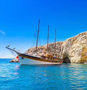 A themed pirate boat tour in the Adriatic Sea