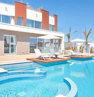 A luxury villa and large private pool in Ayia Napa