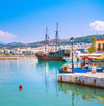 The harbour at Rethymno, Crete