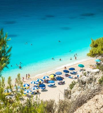 Egremni Beach in Lefkas, Greece