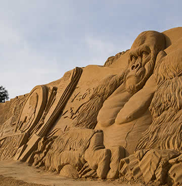 Intricate sand sculptures from the Fiesa Sand Sculpture Festival