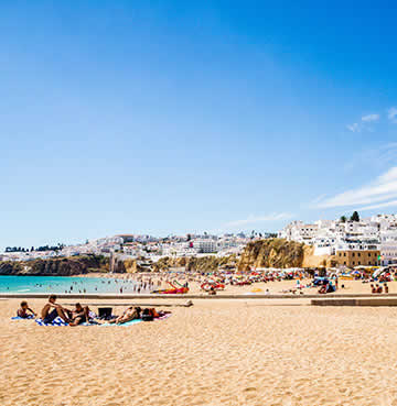 Praia dos Pescadores and the whitewashed Old Town of Albufeira