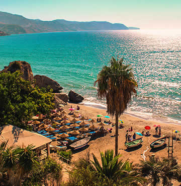 The popular beach of Playa de Calahonda in Nerja