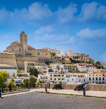 UNESCO World Heritage Site of Dalt Vila, Ibiza's Old Town