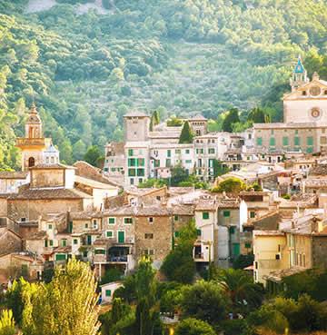 The historic town of Valldemossa in Mallorca