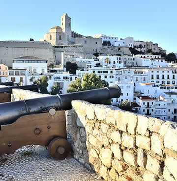 A view over the Old Town of Dalt Vila in Ibiza