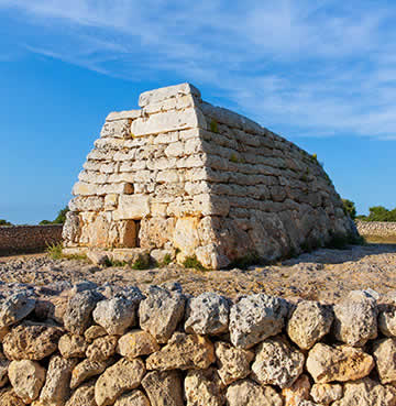 Bronze age stone structures of Naveta des Tudons