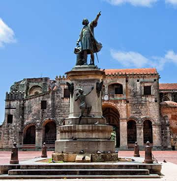 UNESCO-listed historical 'Zona Colonial' in Santo Domingo, Dominican Republic