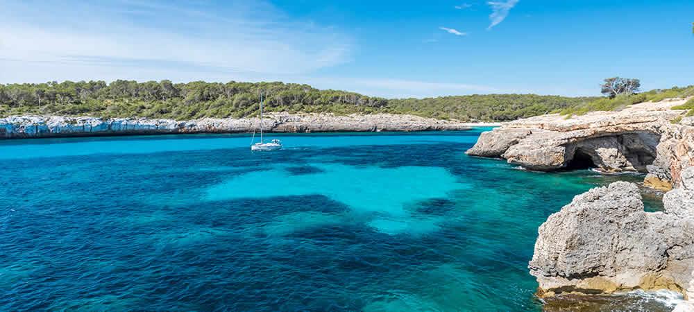 Cala Mondrago beach in Mallorca