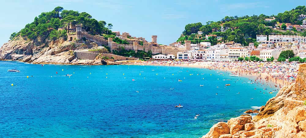 Tossa de Mar beach in Costa Brava, spain