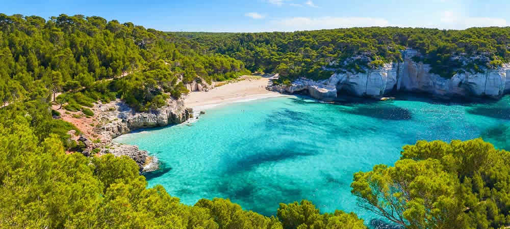 Mitjaneta beach in Menorca