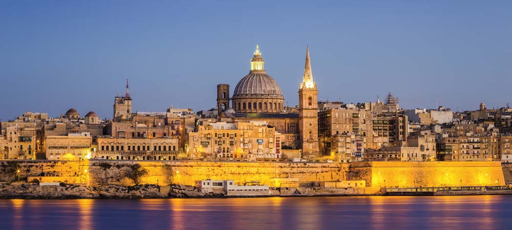 Valetta at night, Malta