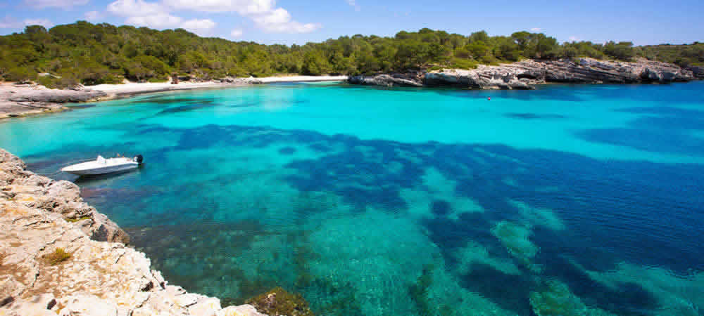 One of Menorca's beautiful white sandy beaches