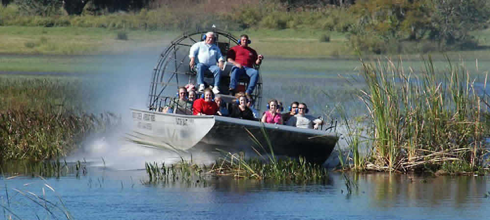 An airboat in Florida's Everglades