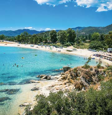 Sikias beach, Sithonia in Halkidiki, Greece