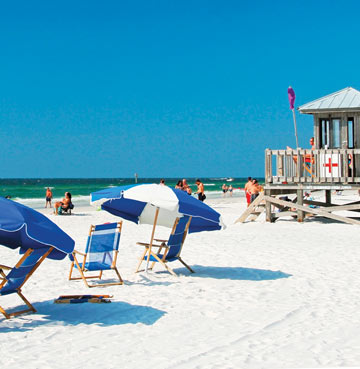 Clearwater beach in Florida, USA