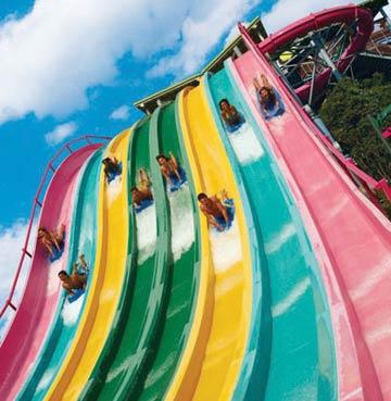 Taumata Racer slides in Aquatica, Orlando