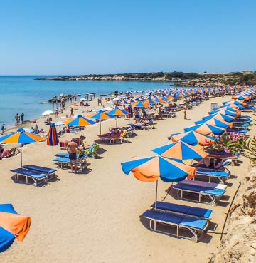 Corallia Beach in Cyprus