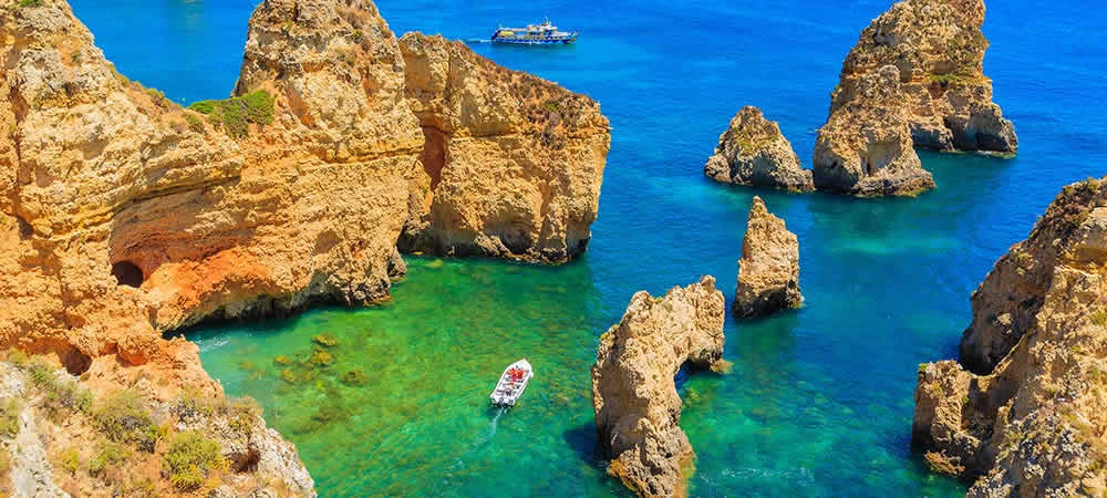 A hidden cove in the Algarve