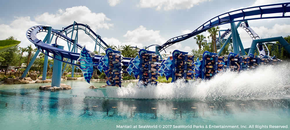 Manta ride at Sea World