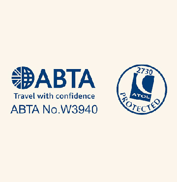 James Villa Holidays' ABTA and ATOL numbers with logo