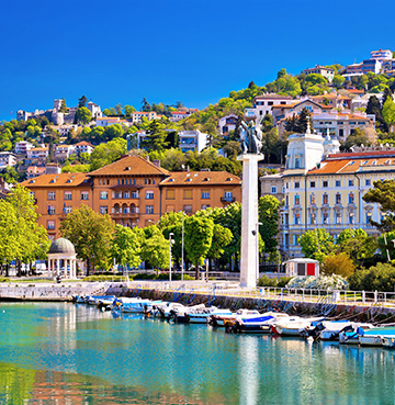 Shot of Rijeka in Istria from the water