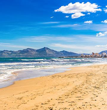 Playa de Muro beach in Mallorca, the Balearic Islands