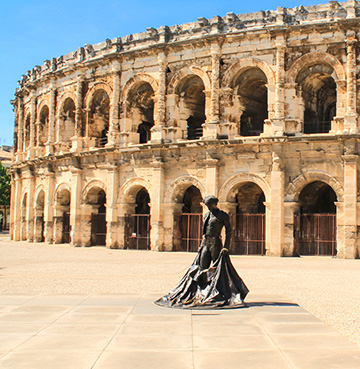 Roman amphitheatre in Nimes, South of France