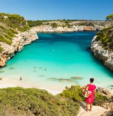 Calo des Moro beach in Mallorca
