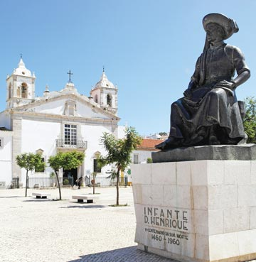 Statue of Henry the Navigator in Lagos, the Algarve