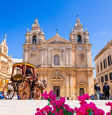 St. Paul's Cathedral in Mdina, Malta