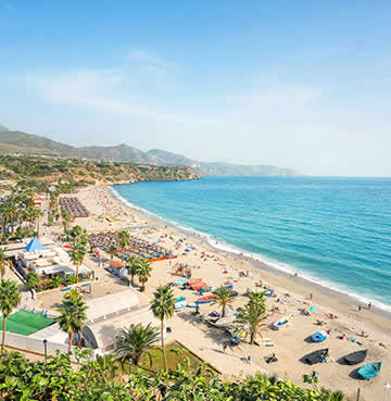 Beautiful beaches on Spain's Costa coast
