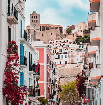 UNESCO World Heritage Site of Dalt Vila, Ibiza Old Town