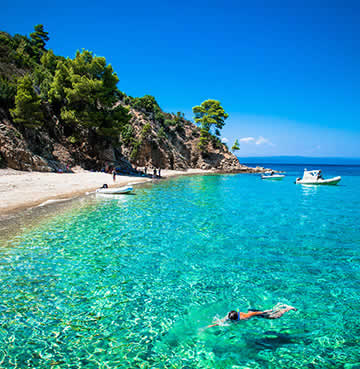 Azure, crystal-clear waters of the Greek Islands