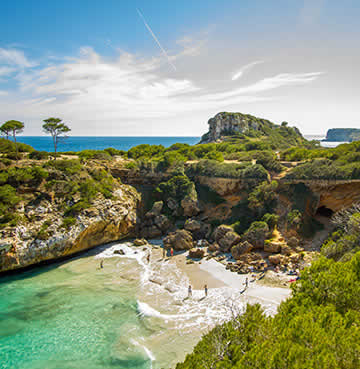 A secluded, unspoiled cove on Mallorca