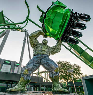 The Incredible Hulk Rollercoaster at Universal Orlando Resort