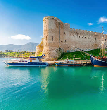 A historic castle on the island of Cyprus