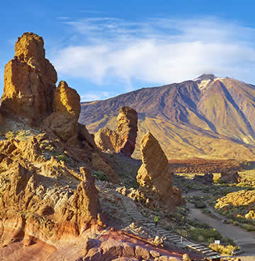 Volcanic landscapes at Mount Teide National Park in Tenerife