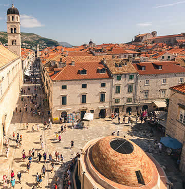 Vistas of Dubrovnik's Old Town from the iconic city walls