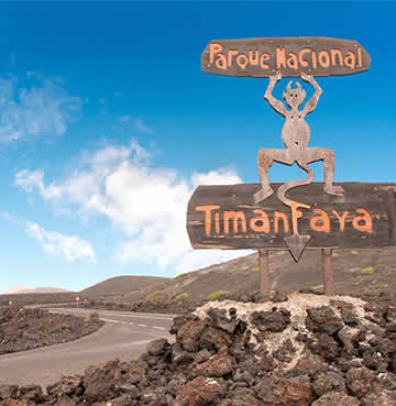 Information sign as you enter Timanfaya National Park