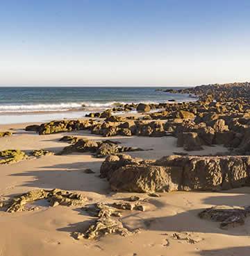 Natural rock pools of Praia da Ingrina in the Algarve, Portugal