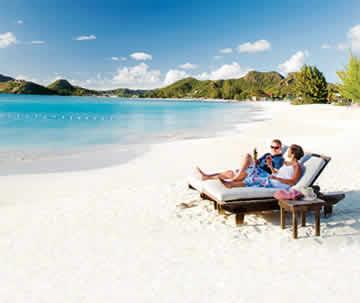 A couple sitting on the beach