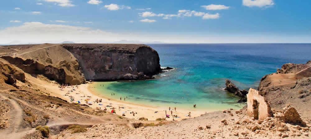 A beach in Lanzarote