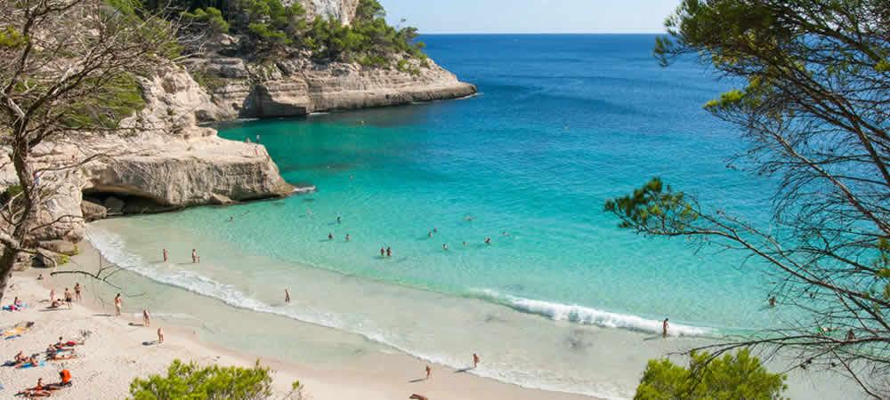 A beach in Menorca