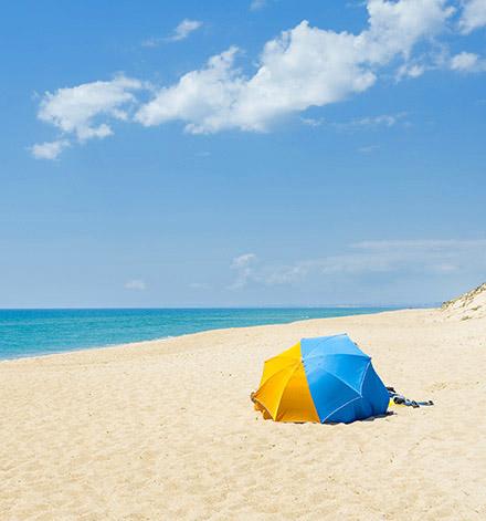 Praia de Ancao beach in the Algarve
