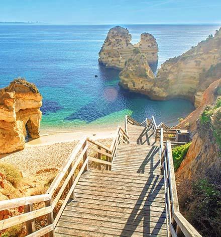 Praia de Camilo beach in the Algarve