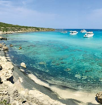 Stunning turquoise waters of Akamas Blue Lagoon, Cyprus