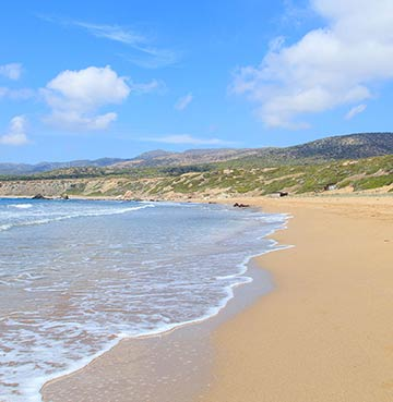 Deserted natural beach of Lara Bay, Cyprus