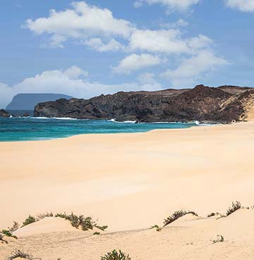Playa de las Conchas beach in Lanzarote